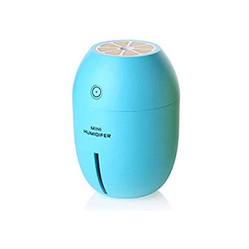BAIF Luftentfeuchter Aromatherapy Entfeuchter für ätherisches Öl Auto Zitrone 180 ml USB Luftreiniger Auto Luftreiniger Tragbar blau