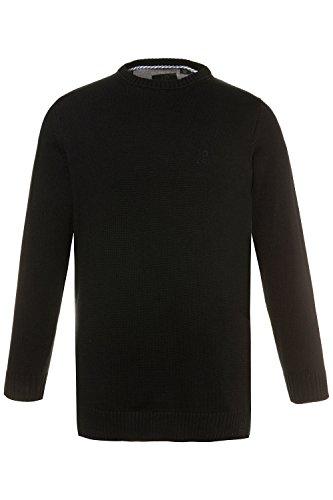 JP 1880 Herren große Größen bis 7XL, Pullover, Sweatshirt aus Strick, Rundhalsausschnitt, JP1880-Stick, Reine Baumwolle schwarz 7XL 708261 10-7XL