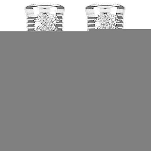 2 Stück Mini leere Glas Roller Öl Flasche 10ml / 12ml(12MLSilber) -