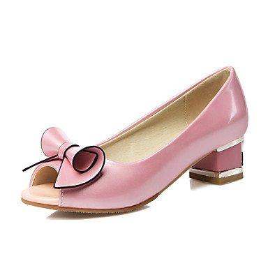 Chaussures Zhenfu Femme Chunky Talon Peep Toe Sandales Partie Et Robe De Soirée / / Casual Rose / Blanc Blushing Rose