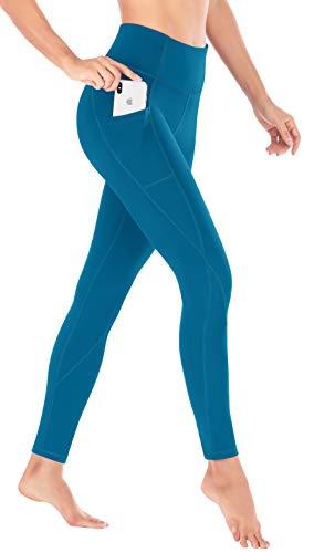 Heathyoga Yoga-Hose mit Taschen, hohe Taille, für Frauen, Workout, Laufen und Yoga, super bequem, nicht durchsichtig, 4 Wege-Stretch-Yoga-Leggings, Damen, H7521 Royal Blue, Small (Leggings Royal Blau)