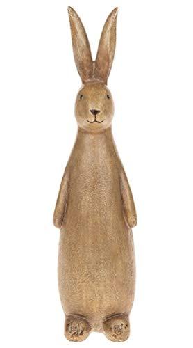Cat Mad Designs - Figura Decorativa de Conejo Estilo rústico, tamaño Grande