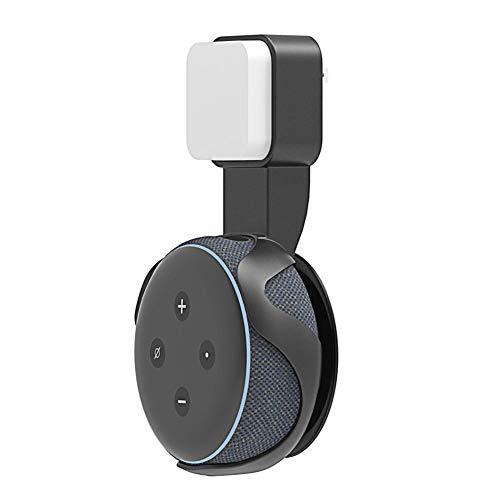Wandhalterung Halterungsständer für Amazon Alexa Echo Dot 3.Generation ohne Schmutz,Drähte oder Schrauben, Dot-Zubehör, kompakter Halter,einfach zu nehmen abheben,in Küchen, Badezimmer und Schlafzi
