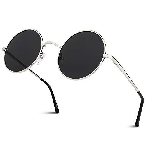 GQUEEN Klassische Lennon Runde Polarisierte Sonnenbrille mit UV400 Schutz MEZ1