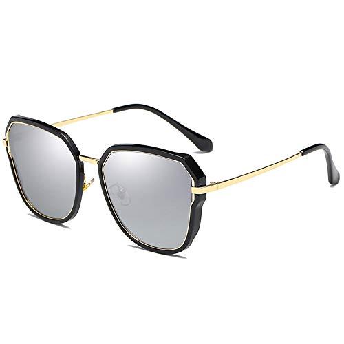 Polarisierte Sonnenbrille Frauen Bunte Sonnenbrille Cat Eye Treibende Brille Uv-Schutz, Geeignet Für Dekoration, Einkaufen, Reisen, Sonnenschutz. (Color : Silver)