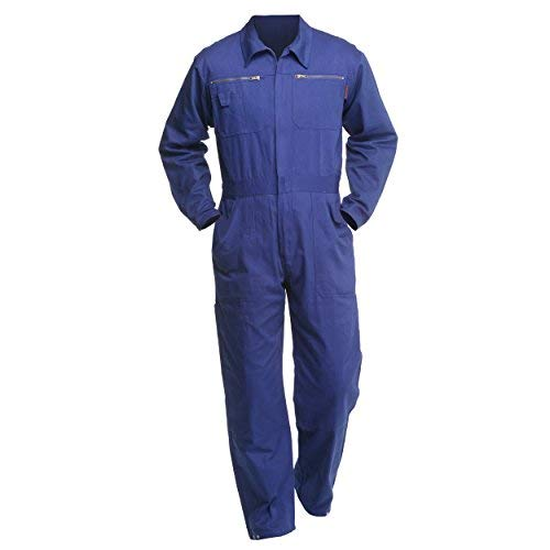 Charlie Barato Arbeitsoverall Blau - waschfester Overall, Robuster Arbeitsanzug für Herren & Damen - Unisex -Kornblau (50)