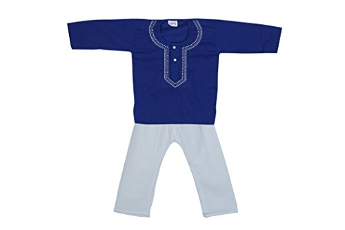Focil Wedding Season Special Blue Kurta Pyjama For Kids  available at amazon for Rs.249