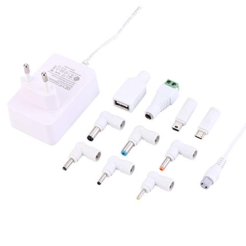 etzteil Adapter Netzkabel Ladegerät 5V 3A (3000mA) für LED Pixel Licht, USB-Hub, Kindle Fire Tablet, DJ Controller, Nextbook (Prime-White) ()