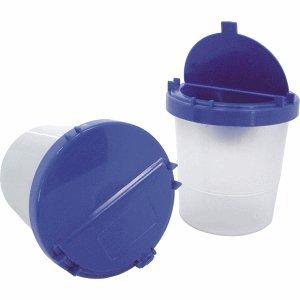 M+M Wasserbecher mit Deckel blau