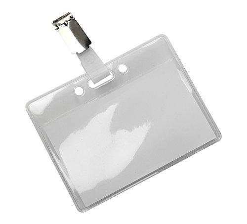 OPUS 2 Namensschilder 95x78 mm mit Hosenträger clip. 24 Stück