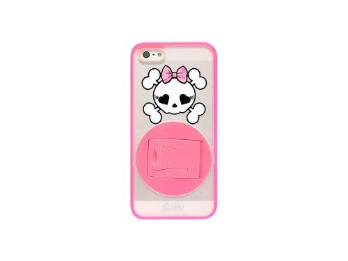Cellet Hybrid Proguard Schutzhülle für iPhone 5-Girly Skull-1Pack-Pink