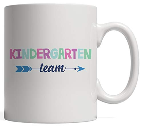 Kindergarten Team Mug - Cute Welcome Back To School Pre-K 2017 To 2018 Gift To Celebrate 1st Day or Graduation! Classroom Crew Gift For Teachers Or Students, From Teacher Or Student