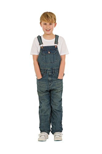 USKEES TOM Kids Slim Fit Dungarees - Darkwash Childrens Denim Overalls Age 4-14 TOMDW-6 Years