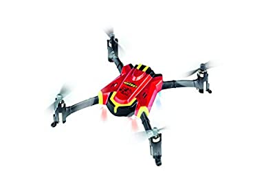 Carson 500507131 - X4 Quadcopter 150 Sport 2.4G 100% RTF Red Remote Controlled Flight Models Ready to Fly, LED with Stunt Function, Batteries and 2.4 GHz Remote Control, 100% Ready to Fly