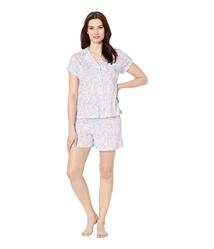 Lauren Ralph Lauren Women's Dolman Notch Collar Boxer Pajama Set Multi Floral Print Medium