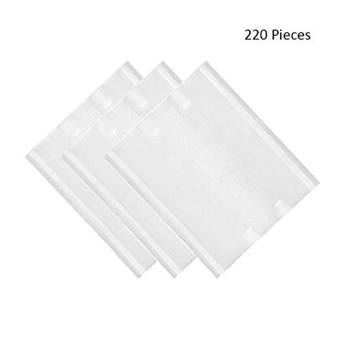 220pcs / Pack Doux Cosmétiques Coton Pads Démaquillant Serviette Pads Double Face Nettoyage Visage Démaquillants Lingettes (Color : White, Taille : 6 * 5cm)