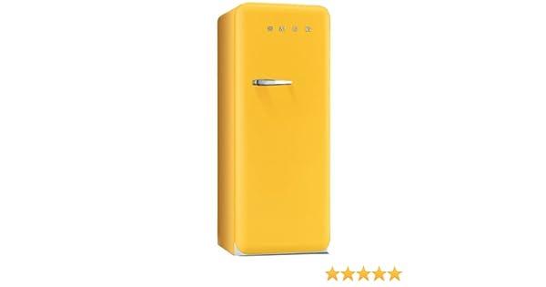 Smeg Kühlschrank Gelb : Smeg fab rg standkühlschrank a l gelb mit