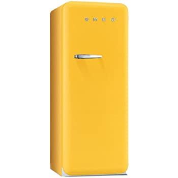 Smeg FAB28RG1 combi-fridge - combi-fridges (freestanding, Yellow, Top-placed, right, A++, SN-T)