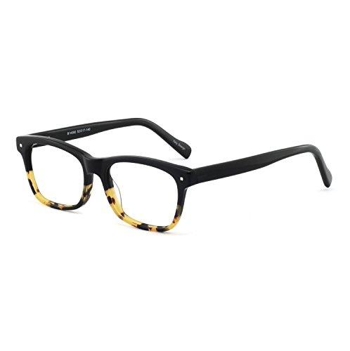 OCCI CHIARI W-COCORO Ovale Occhiali da vista montatura con cerniera a molla e lenti chiare per donna (viola 51MM) fLwcDGpb8V