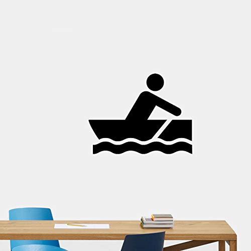 HLZLA Mode Rudern Kanu Sport Extreme Bewegung Wandaufkleber PVC Wohnzimmer Das Schlafzimmer 42x55cm
