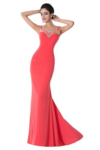 ivyd ressing Femme Etui Ligne col rond avec pierres Party robe Lave-vaisselle robe robe du soir Pastèque