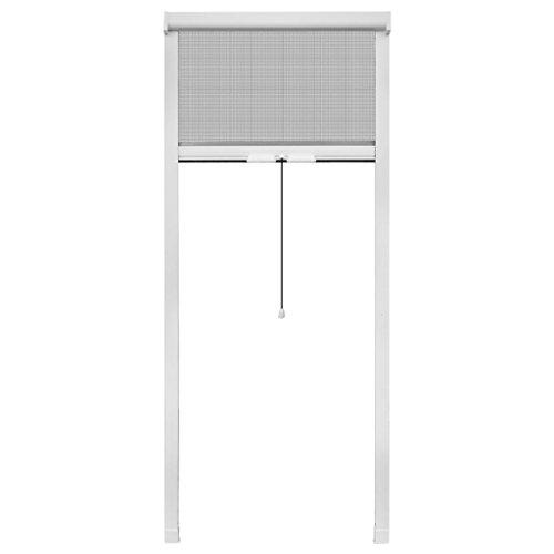 Vidaxl zanzariera universale avvolgibile a rullo per finestre bianca 60 x 150 cm
