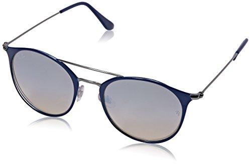 Ray-Ban RAYBAN Unisex-Erwachsene Sonnenbrille RB3546 Blau (Gunmetal Top Bluee/Greyflashgradient), 52