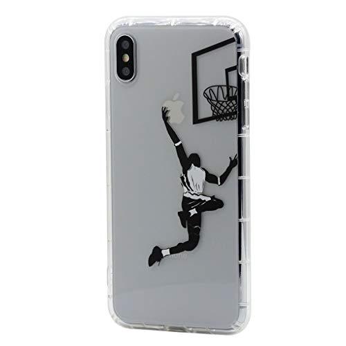 Keyihan iphone 6s / iphone 6 custodia cover interessante divertente modello trasparente chiaro morbido tpu protettiva caso bumper per apple iphone 6 6s (giocare a pallacanestro)