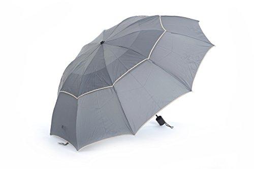 Honeystore Regenschirm 3-Falten Taschenschirm Wasserdicht Sonnnenschirm Grau