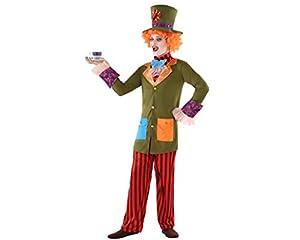 Atosa-61616 Atosa-61616-Disfraz Sombrerero Loco- ADOLESCENTE- Hombre, Multicolor, (61616)