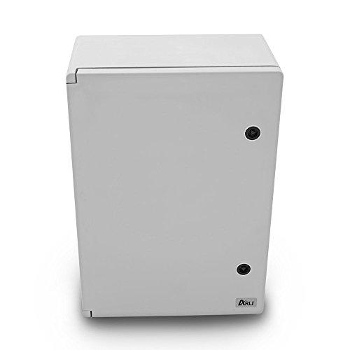 Schaltschrank IP 65 Industriegehäuse 350 x 500 x 190 mm verzinkter Montageplatte Verriegelung Tür mit umlaufender Dichtung Gehäuse Leergehäuse ABS Kunststoff leer Schrank ARLI 35 x 50 x 19 cm