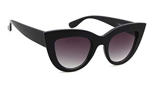 Cranky Orange 2019 New Cat Eye Sonnenbrille Damen Markendesigner Getönte Farblinse Herren Vintage Shaped Sun Glasses Damen Black Eyewear, C1