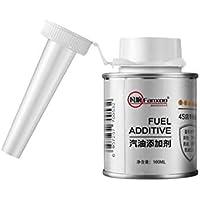 Funnyrunstore 100ml Coche General Combustible Aditivo Carbono Agente de limpieza Limpiador de inyectores de automóviles Accesorios de mantenimiento portátiles (blanco)
