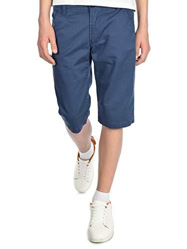 BEZLIT Jungen Chino Kinder Shorts kurz, 146, Blau - Reißverschluss An Der Seite-stretch-hose