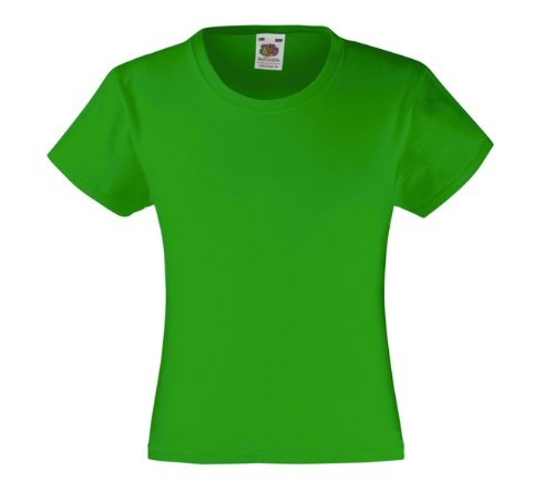 Grüne Kostüm Mädchen - Mädchen T-Shirt Girls Kinder Shirt - Shirtarena Bündel 140,Maigrün