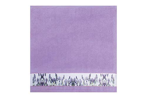 framsohn Geschirrtuch Zwirn Lavendelfeld 50 x 50 cm Lavendel - Lila - Lavendel Geschirrtücher