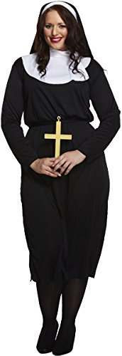 Plus Size Adult Nun Fancy Dress Costume.