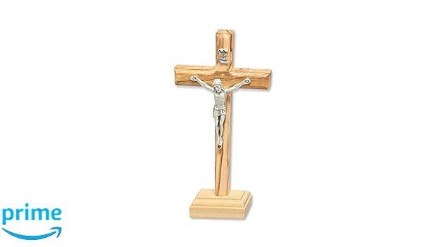12,1/cm debout St Croix Crucifix Croix Saint Beno/ît en M/étal Argent/é 1229