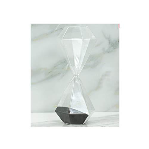 Kehuitong clessidra, design geometrico semplice, materiale in vetro confortevole, adatto per display da tavolo, dimensioni grandi e medie tra cui scegliere (blu, nero, grigio)