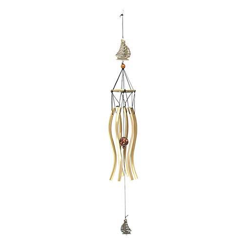 SUNERLORY Windspiele, Bronze 6 Röhren Metall Windspiele - handgemachte hängende Anhänger Wind Glocken - für Hausgarten Outdoor Indoor Decor (6 Boot Glocke)