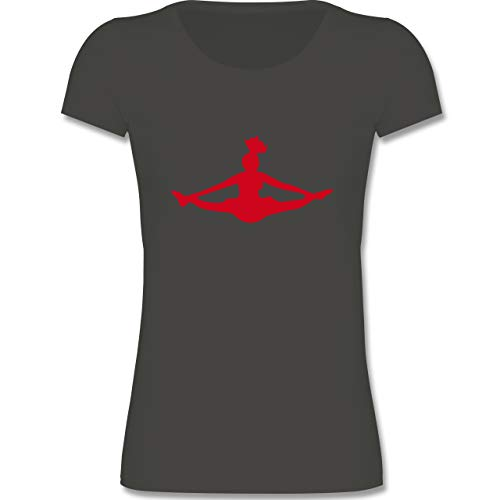 Sport Kind - Cheerleading - 122-128 (7-8 Jahre) - Grau - F288K - Mädchen T-Shirt