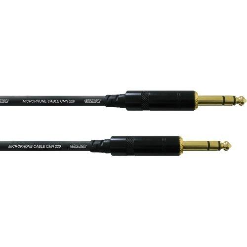 CORDIAL Symmetrische Klinken-Verbindungskabel FAIR LINE CFM 0,9 VV, 0,9m Klinke / Klinke 6,3 mm stereo, kostengünstige Kabel für Festinstallation od für Patchbay, Neutrik Metall-Steckverbinder, angespritzt (Symmetrisches Line Kabel)
