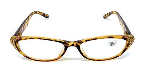 Lesebrille, Präsent, müde Augen im Angebot (billige Brille) + 2,00 2,00 Schwarz/Gelb