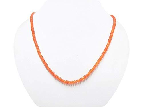 Designer Guild Kostüm - Orange Karneol Untertasse Perlen Halskette mit Sterling Silber Erkenntnisse handgemachten Schmuck