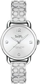 Coach WOMEN'S SILVER & WHITE DIAL STAINLESS STEEL WATCH -
