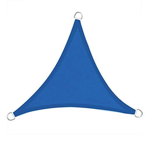 Greenbay Voile d'ombrage Triangulaire | 2x2x2m Bleu | Une Protection des Rayons UV | Toile d'ombrage Auvent Pare-Soleil de Jardin