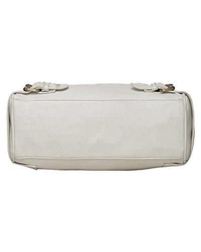 Fostelo Women's Rachel Shoulder Bag (White) (FSB-881)