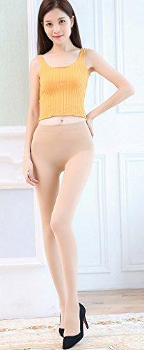 Bigood Femme Leggings Collant Elastique Haute Taille Pantalon Chaussure Chair Pantalon Longue