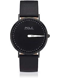 Pole Watches - Melanoid - Reloj Analógico de Cuarzo para Hombres con Esfera Negra y Correa