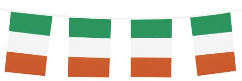 Wimpelkette Irland, 10 Meter (Party St Patricks)